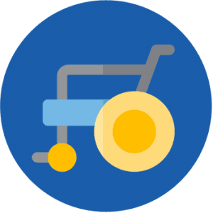 Assistance Walking and Transfer from Bed to Wheelchair